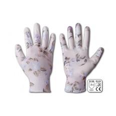 Dámské pracovní rukavice Nitrox Flowers - vel. 8