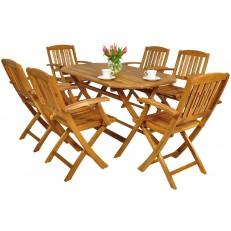 Zahradní nábytek z akátového dřeva 6+1 AK 130SS/521K