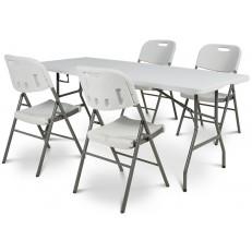Cateringový stůl - skládací 180 cm + 4 x židle catering