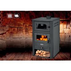 Krbová kamna Blist BRM E Antracit - 24 kW s výměníkem a troubou na pečení - 2. jakost