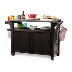 Multifunkční zahradní stolek KETER UNITY XL 183L Brown