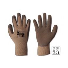 Zateplené  pracovní rukavice Grizzly latex - vel. 10