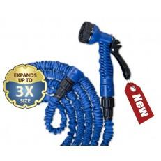 Komplet flexibilní zahradní hadice TRICK HOSE 5-15m - modrá