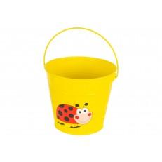 Dětský plechový kbelík žlutý GR0138