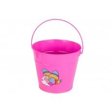 Dětský plechový kbelík růžový GR0138