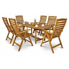 Zahradní nábytek z akátového dřeva 6+1 AK 190SR/511K