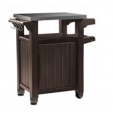Multifunkční úložná skříňka a stolek Keter Unity Storage Buffet - Brown