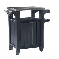 Multifunkční úložná skříňka a stolek Keter Unity Storage Buffet - Graphite