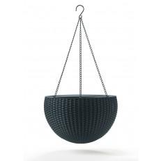 Závěsný květináč KETER Hanging Sphere - Grey