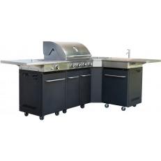 Activa Gril Dallas - profesionální plynová grilovací kuchyně 14 + 3,5 kW