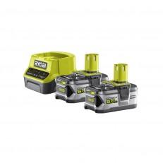 Ryobi RC18120-250 sada 2x 18 V lithium iontová baterie 5 Ah s nabíječkou RC18120 ONE+
