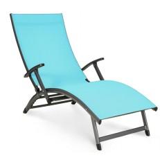 Zahradní Alu lehátko Relax Blue
