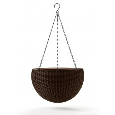 Závěsný květináč KETER Hanging Sphere - Dark Brown