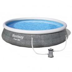 Bazén Fast Set Rattan 3,96 x 0,84 m - 57376